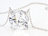 White Cubic Zirconia Rhodium Over Sterling Silver Necklace 11.62ctw