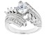 White Cubic Zirconia Rhodium Over Sterling Silver Ring 3.63ctw