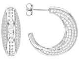 White Cubic Zirconia Rhodium Over Sterling Silver Earrings 7.15ctw