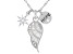 White Cubic Zirconia Rhodium Over Sterling Silver Inspirational Pendant With Chain 1.37ctw