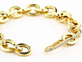 White Cubic Zirconia 18K Yellow Gold Over Sterling Silver Bracelet 1.57ctw