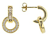 White Cubic Zirconia 18K Yellow Gold Over Sterling Silver Earrings 1.90ctw