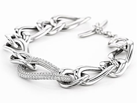 White Cubic Zirconia Rhodium Over Sterling Silver Bracelet 5.12ctw
