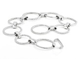 White Cubic Zirconia Rhodium Over Sterling Silver Bracelet 1.01ctw