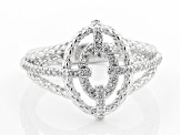 White Cubic Zirconia Rhodium Over Sterling Silver Ring 0.45ctw