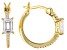 White Cubic Zirconia 18K Yellow Gold Over Sterling Silver Earrings 2.17ctw