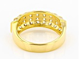 White Cubic Zirconia 18K Yellow Gold Over Sterling Silver Ring 3.16ctw
