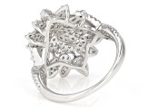White Cubic Zrconia Rhodium Over Sterling Silver Ring 1.75ctw