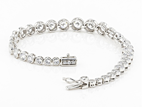 White Cubic Zirconia Rhodium Over Sterling Silver Bracelet 17.30ctw