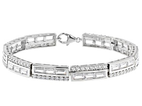 White Cubic Zirconia Rhodium Over Sterling Silver Bracelet 18.03ctw