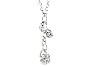 White Cubic Zirconia Rhodium Over Sterling Silver Necklace 3.23ctw