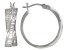 White Cubic Zirconia Platinum Over Sterling Silver Hoop Earrings 3.03ctw