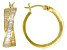White Cubic Zirconia 18K Yellow Gold Over Sterling Silver Hoop Earrings 3.03ctw