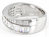 White Cubic Zirconia Platinum Over Sterling Silver Ring 1.61ctw