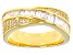 White Cubic Zirconia 18K Yellow Gold Over Sterling Silver Ring 1.61ctw