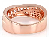 White Cubic Zirconia 18K Rose Gold Over Sterling Silver Ring 1.61ctw