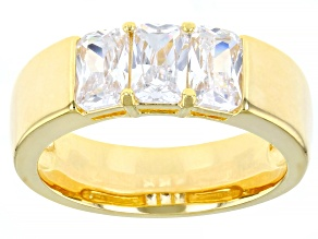 White Cubic Zirconia 18K Yellow Gold Over Sterling Silver Ring 2.75ctw