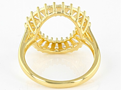 White Cubic Zirconia 18K Yellow Gold Over Sterling Silver Ring 1.84ctw
