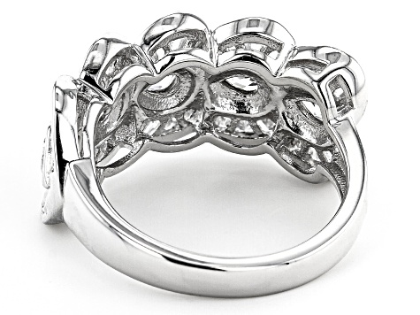 White Cubic Zirconia Rhodium Over Sterling Silver Ring 2.86ctw