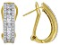 White Cubic Zirconia 18K Yellow Gold Over Sterling Silver Earrings 2.96ctw