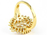 White Cubic Zirconia 18K Yellow Gold Over Sterling Silver Ring 7.00ctw