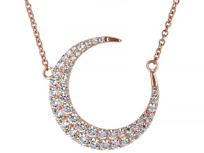 White Cubic Zirconia 18K Rose Gold Over Sterling Silver Necklace 1.99ctw