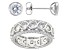 White Cubic Zirconia Rhodium Over Sterling Silver Ring And Earrings 9.30ctw