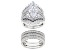 White Cubic Zirconia Rhodium Over Sterling Silver Ring With Bands 11.91ctw