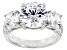 White Cubic Zirconia Rhodium Over Sterling Silver Ring 10.97ctw