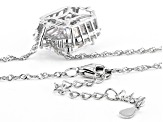 White Cubic Zirconia Rhodium Over Sterling Silver Pendant With Chain 13.69ctw