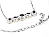 White Cubic Zirconia Rhodium And 14K Yellow Gold Over Sterling Silver Necklace 3.87ctw