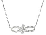White Cubic Zirconia Platinum Over Sterling Silver Necklace 0.99ctw