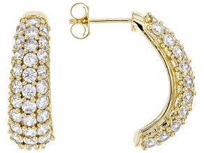 White Cubic Zirconia 18K Yellow Gold Over Sterling Silver Earrings 7.45ctw