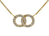 White Cubic Zirconia 18K Yellow Gold Over Sterling Silver Necklace 0.65ctw
