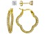 White Cubic Zirconia 18K Yellow Gold Over Sterling Silver Earring Set 3.99ctw