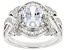 White Cubic Zirconia Platinum Over Sterling Silver Ring 4.93ctw