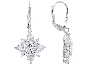 White Cubic Zirconia Rhodium Over Sterling Silver Earrings 7.90ctw
