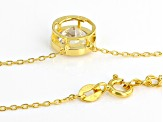 White Cubic Zirconia 18K Yellow Gold Over Sterling Silver Necklace 3.46ctw