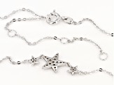 White Cubic Zirconia Rhodium Over Sterling Silver Necklace 0.34ctw