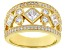 White Cubic Zirconia 18K Yellow Gold Over Sterling Silver Ring 2.49ctw