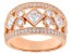 White Cubic Zirconia 18K Rose Gold Over Sterling Silver Ring 2.49ctw