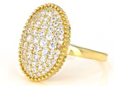 White Cubic Zirconia 18K Yellow Gold Over Sterling Silver Ring 1.76ctw