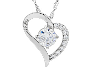 White Cubic Zirconia Rhodium Over Sterling Silver Pendant With Chain 2.79ctw