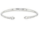 White Cubic Zirconia Rhodium Over Sterling Silver Cuff Bracelet 1.96ctw