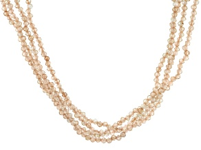Champagne Cubic Zirconia Bead Necklace Approximately 122.57ctw