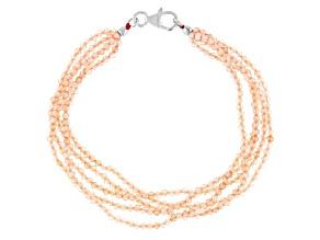 Champagne Cubic Zirconia Bead Bracelet Approximately 50.75ctw