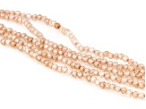 Champagne Cubic Zirconia Bead Bracelet Approximately 50.75ctw