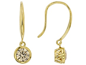Champagne Cubic Zirconia 18k Yellow Gold Over Sterling Silver Earrings 1.70ctw (0.92ctw DEW)