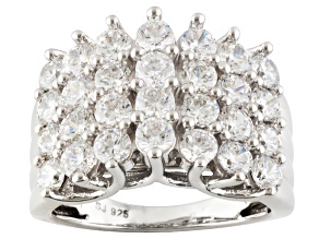 Cubic Zirconia Silver Ring 5.70ctw