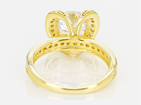 Cubic Zirconia 18k Yellow Gold Over Silver Ring 2.66ctw